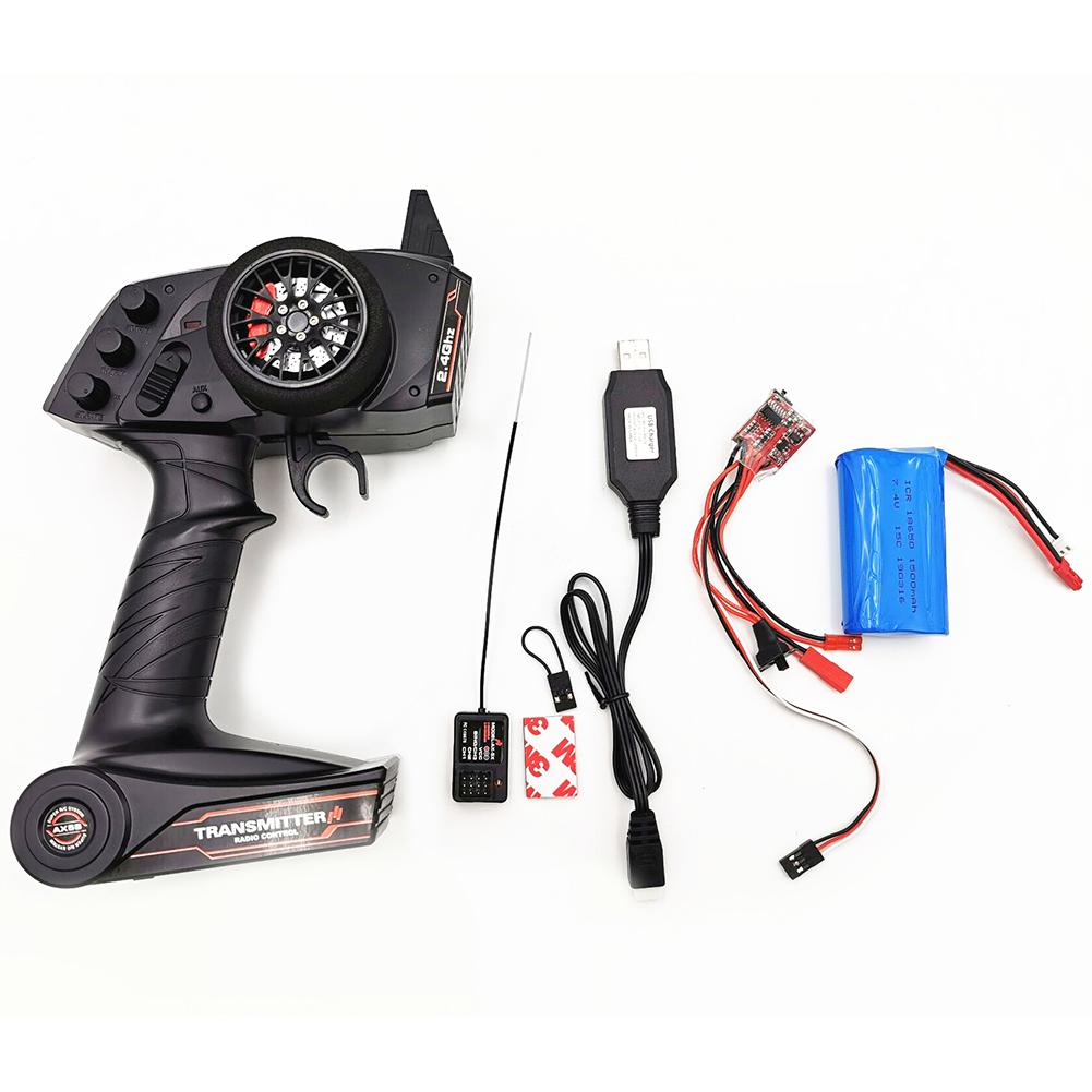 RCtown WPL C24 B16 B14 B24 Upgrade KIT Part AX5S 2.4G 3CH AFHS Radio Remote Control Update Part WPL KIT for WPL C24 B16 B24 B14