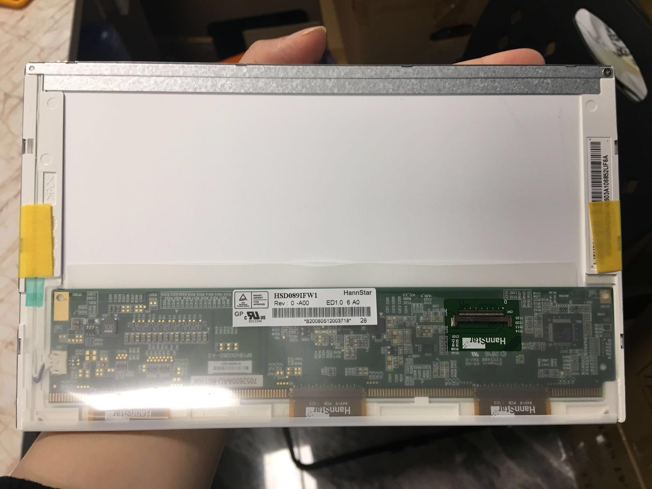 Tela de matriz para notebook, lcd de 8.9 polegadas, b089aw01 a089sw01 flash