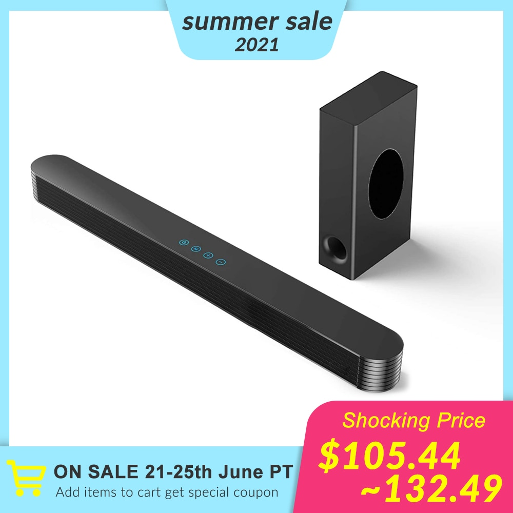 AliExpress - 120W Home TV Theater Soundbar Bluetooth 5.0 Speakers Wireless Sound Bar 3D Stereo Column Surround Subwoofers with Remote Control