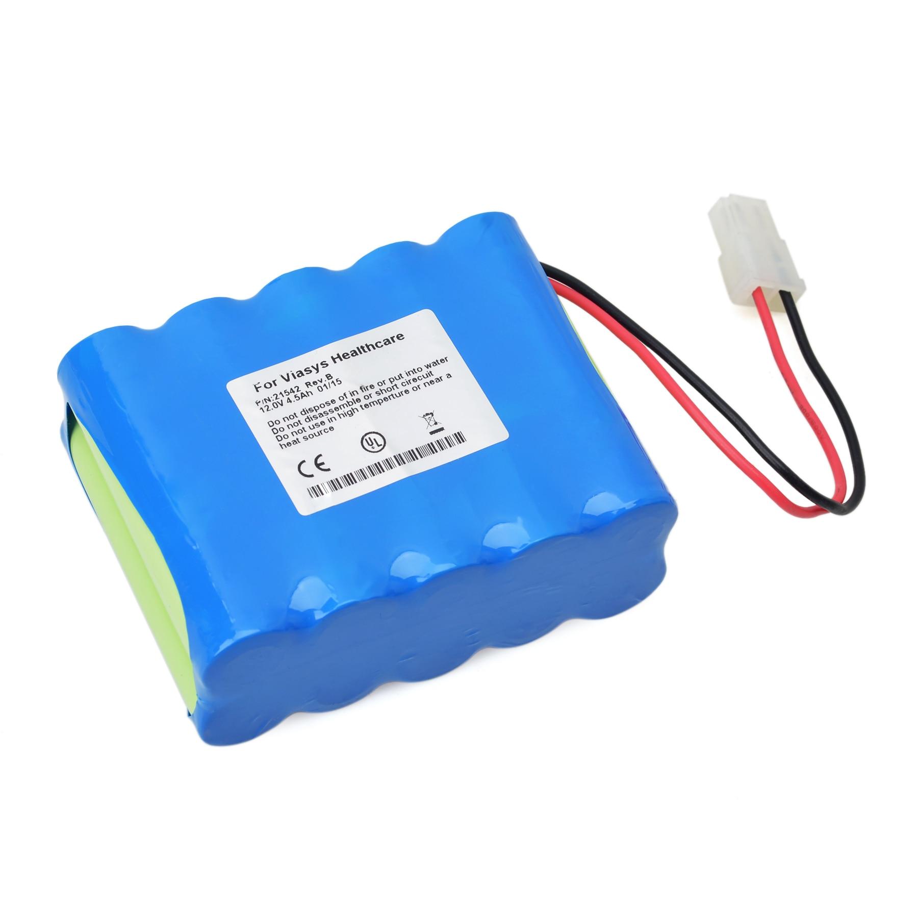 Pour Viasys oiseau VELA Type batterie Rechargeable avec Protection avec prise 12V 4500MAH