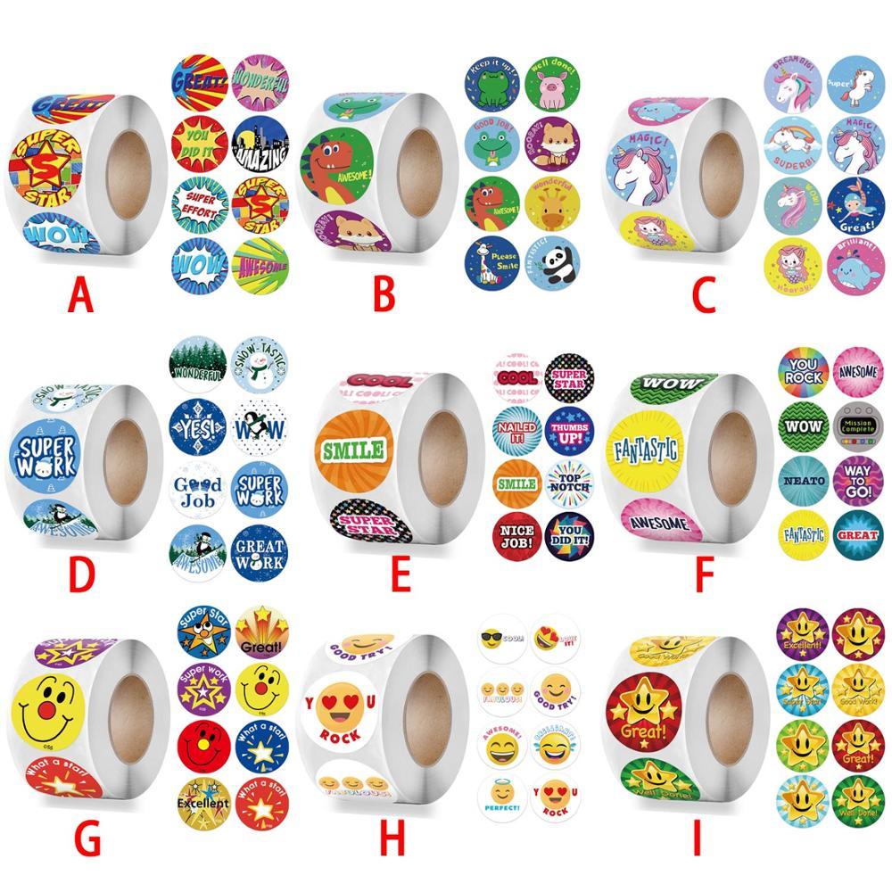 500-pcs-ricompensa-adesivi-motivazionale-adesivi-rotolo-bambini-insegnante-di-scuola-premiare-gli-studenti-insegnanti-simpatici-animali-sticker-seal-etichette
