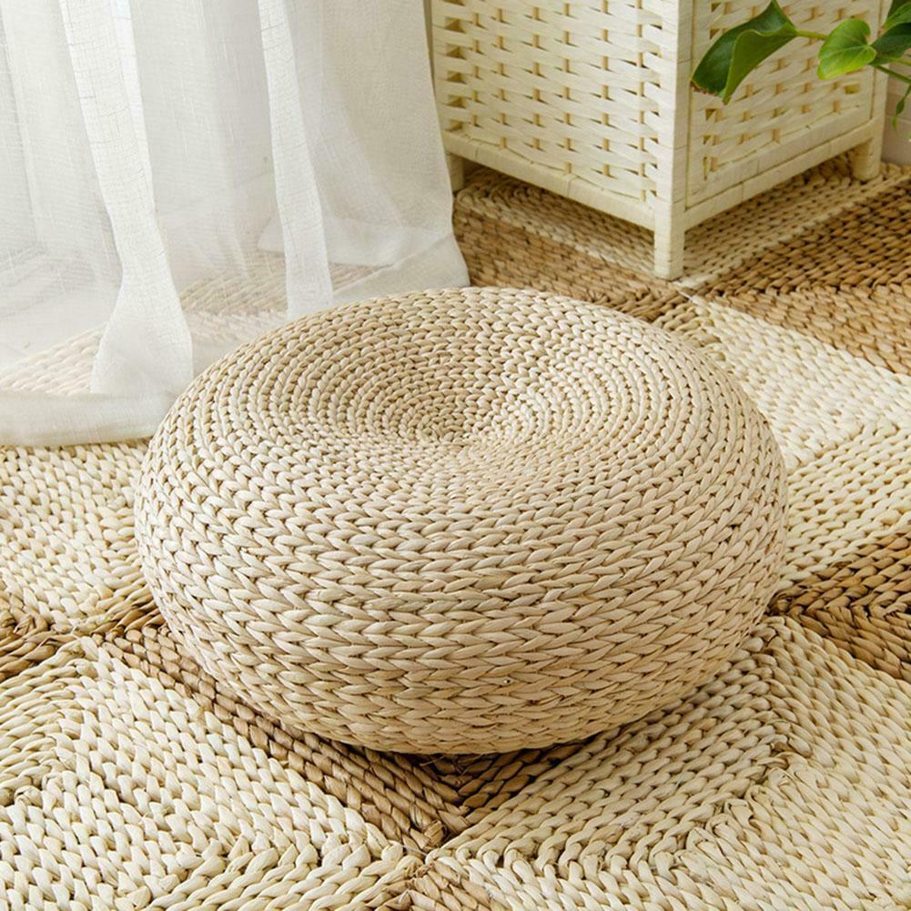 1 pc meditação almofada tatami almofada redonda palha esteira cadeira almofada de assento travesseiro piso redondo tablemat japonês-estilo dropshipping