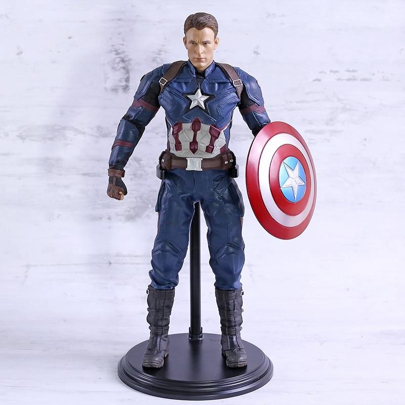 Marvel Avengers guerra Civil Capitán América escala 1/6 figura coleccionable PVC modelo figurita juguete