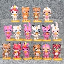 16 pièces/ensemble brillant poopsie Cutie Slime uniron poupées LOL poupée ornement jouets spongieux Poopsie Slime licorne Anti Stress pour enfants 6CM
