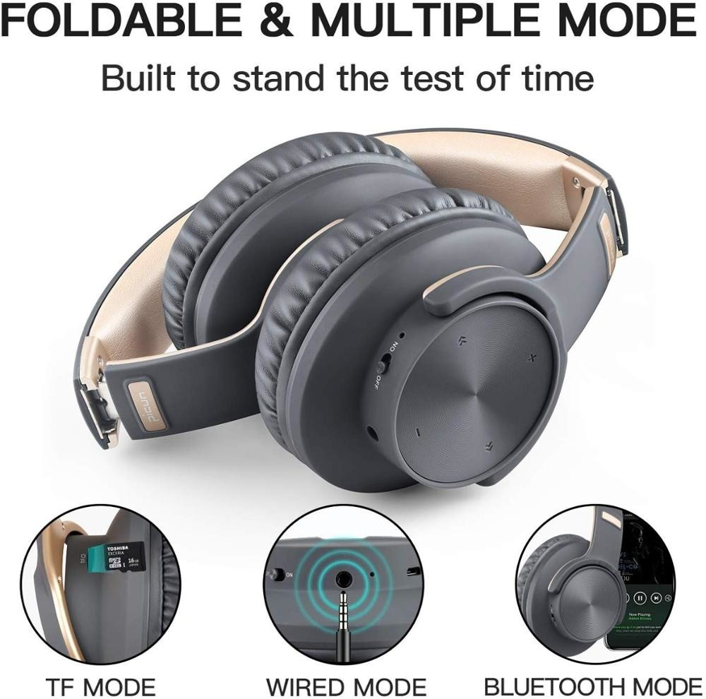 Picun B8 Wireless Headphones Bluetooth 5.0 Headset 40H Play time Touch Control Over Ear Earphone with Mic TF Stereo Headset for enlarge