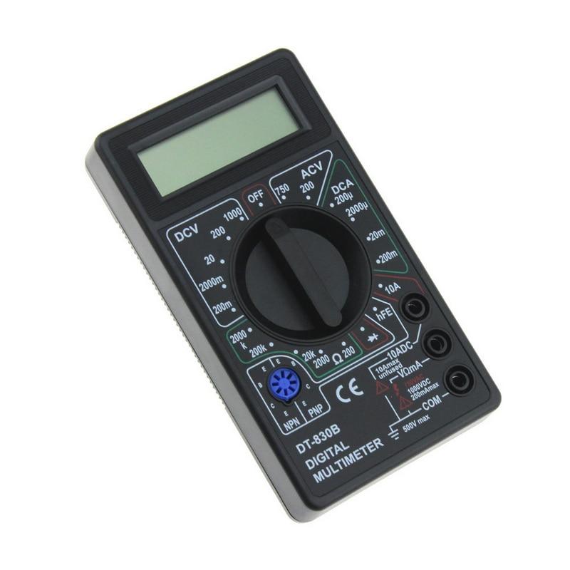 Urijk, 1 Uds., pantalla LCD, multímetro de mano para electricista, voltímetro, UK-830LN, multímetro Digital, probador de bolsillo, multímetro retroiluminado