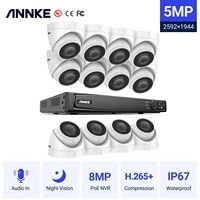 annke 16ch fhd 5mp poe video security system h 265 8mp nvr with 12x 5mp weatherproof surveillance poe cameras with audio record