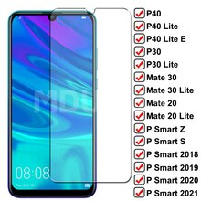9H Protective Glass For Huawei P Smart Z S 2019 2021 Screen Protector Film Mate 30 20 10 Lite P30 P4