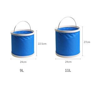 Image 5 - Складное ведро для автомобиля, путешествий, рыбалки, большое портативное выдвижное ведро для мытья, щетка, компрессионное ведро для автомобиля
