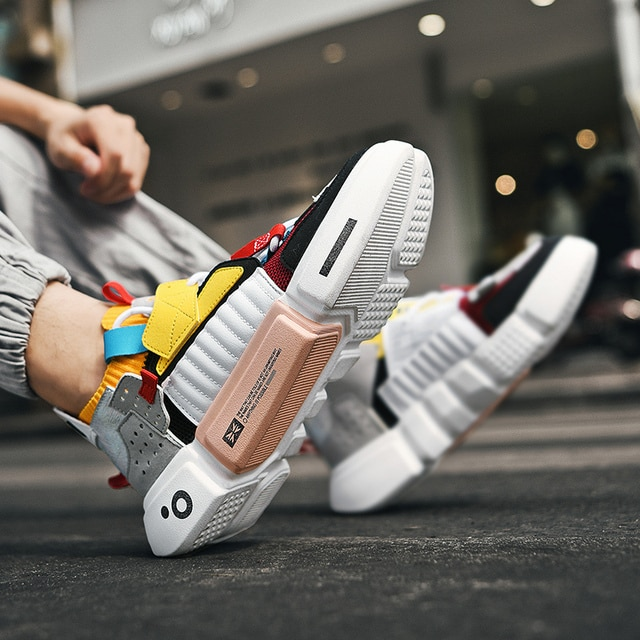 Autumn Fashion Colourful Men's Luxury Sneakers Trending Men Casual Shoes Hot Sale Breathable Chunky Shoes Men Zapatillas Hombre 2