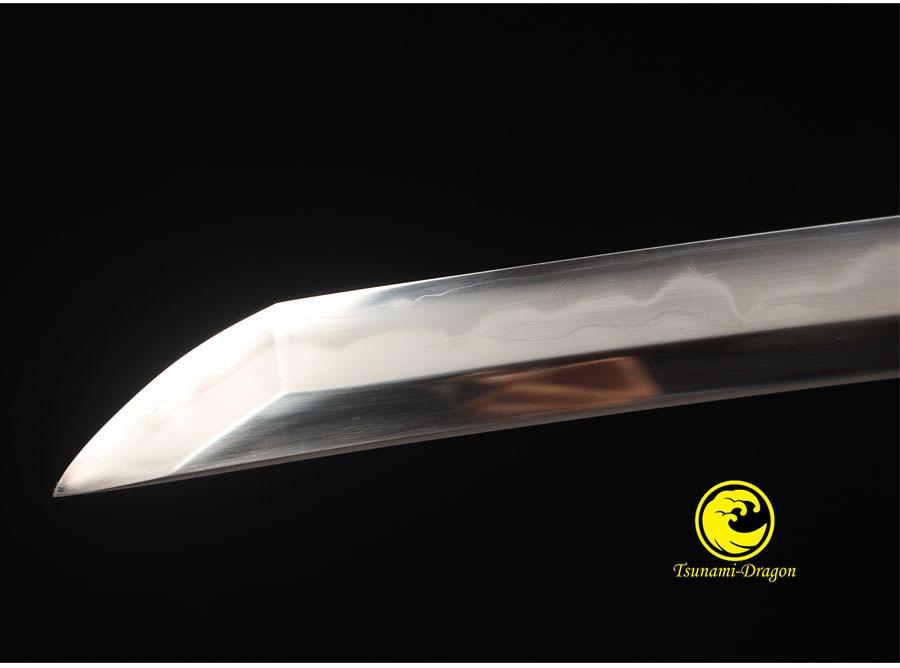 Samurai Katana Folded And 1095 Steel Clay tempered Blade Razor Sharp Real Ninja Swords Handmade Full Tang Fully Ray Skin Sheath