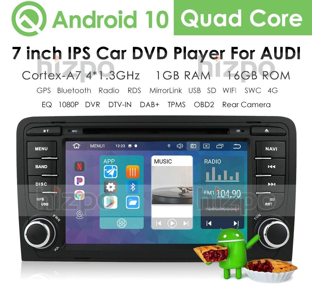 IPS 2 Din Android 10 GPS para coche de navegación para Audi A4 B7 B6 S4 B7 B6 RS4 B7 SEAT Exeo 2008-2012 Dvd Radio Estéreo reproductor Multimedia