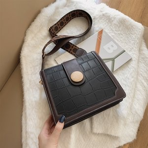 Stone Pattern PU Leather Crossbody Bags for Women 2020 Small Shoulder Handbags Female Trend Women's Branded Vintage Hand Bag