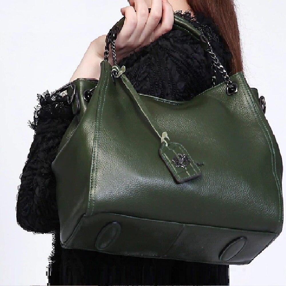 2020 ZOOLER Real Skin Leather Bags Hot Women Handbags Large Tote Genuine leather Bag High Quality Shoulder Bag Black Green #8130