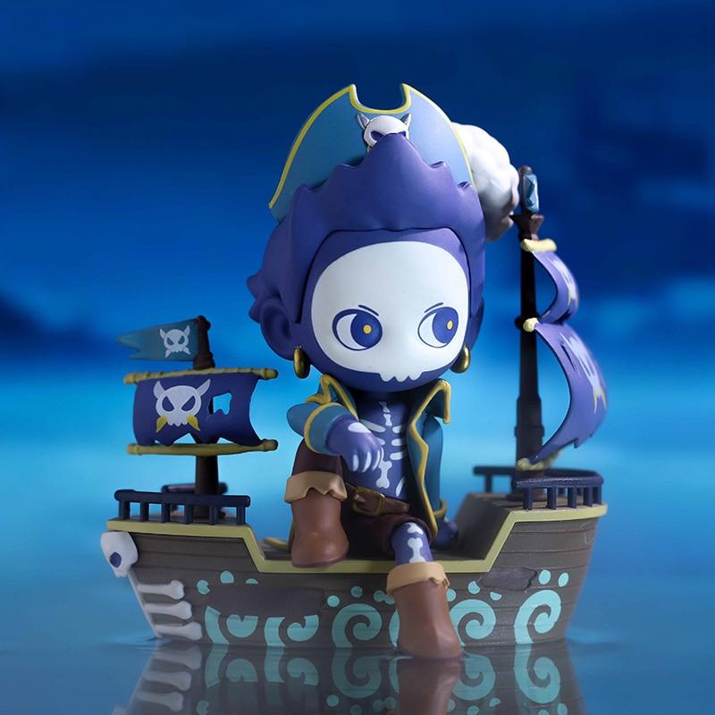 Kawaii Toy Feirenzai in a daze, Nezha treasure hunt at sea, trendy Kid Doll birthday gift decoration Blind Random Box