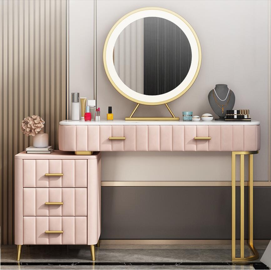 Скандинавский мраморный туалетный столик, туалетный столик для спальни, современный простой сетчатый красный ins ветровой шкаф для хранения