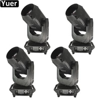 4pcslot 380w led stage beam moving head light two way rotating prism dmx512 dj disco light wedding party club gig stage lights