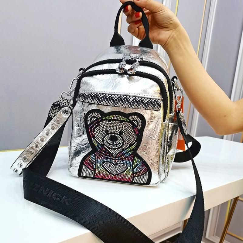 Branded 2021 backpack for women shoulder bags High Quality Leather Designer Black Tote Travel Bag
