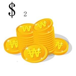 $2/pcs Extra Shipping fee