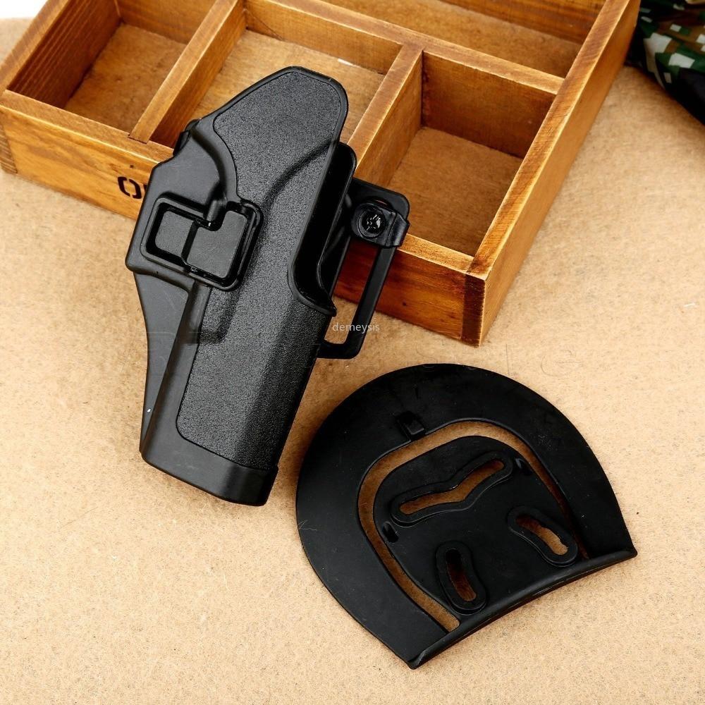 C Q C negro pistolera caza táctica Airsoft RH cinturón pistolera para Glock 17 18 19 23 32 36