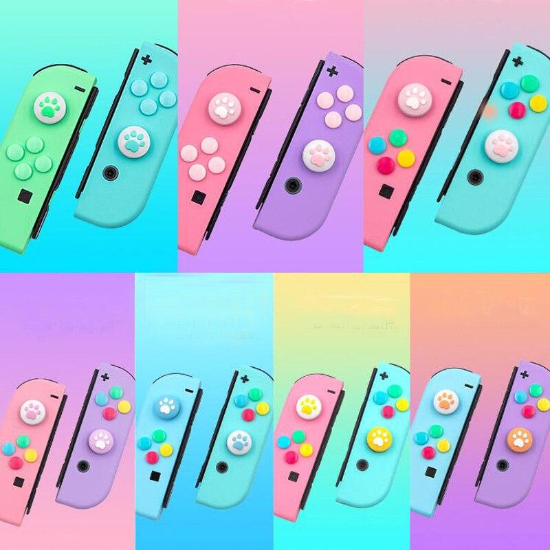 Cubierta protectora de la tapa del mango del pulgar del botón del Joystick de Nintend para la caja de la piel de la etiqueta engomada del ABXY del controlador del interruptor de Nintendo
