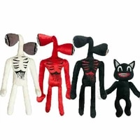 30 40cm anime plush toy stuffed animals doll horror black cartoon cat peluches toys for kids gift funny boy april fools day