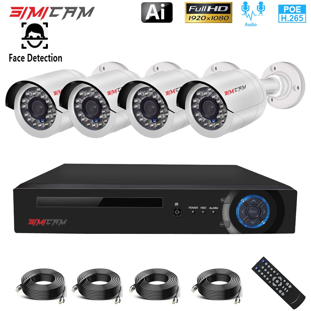 jooan security camera system wireless nvr kit wifi cctv system 4ch 1080p 2 0mp p2p indoor outdoor ip camera surveillance kits Home Camera Security System 1080P POE CCTV Full HD 5MP NVR 2/4CH Audio 2MP IP Camera Outdoor P2P Vdeo Surveillance Camera Set