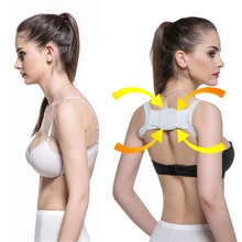 Posture Corrector Device Comfortable Back Support Braces Shoulders Chest Belt Women - Medical Device to Improve Bad Posture
