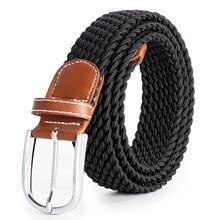 Hreamky-Cinturón de oficina para mujer, 100-190 cm, tejido elástico, para ocio al aire libre, embalaje de caja de regalo