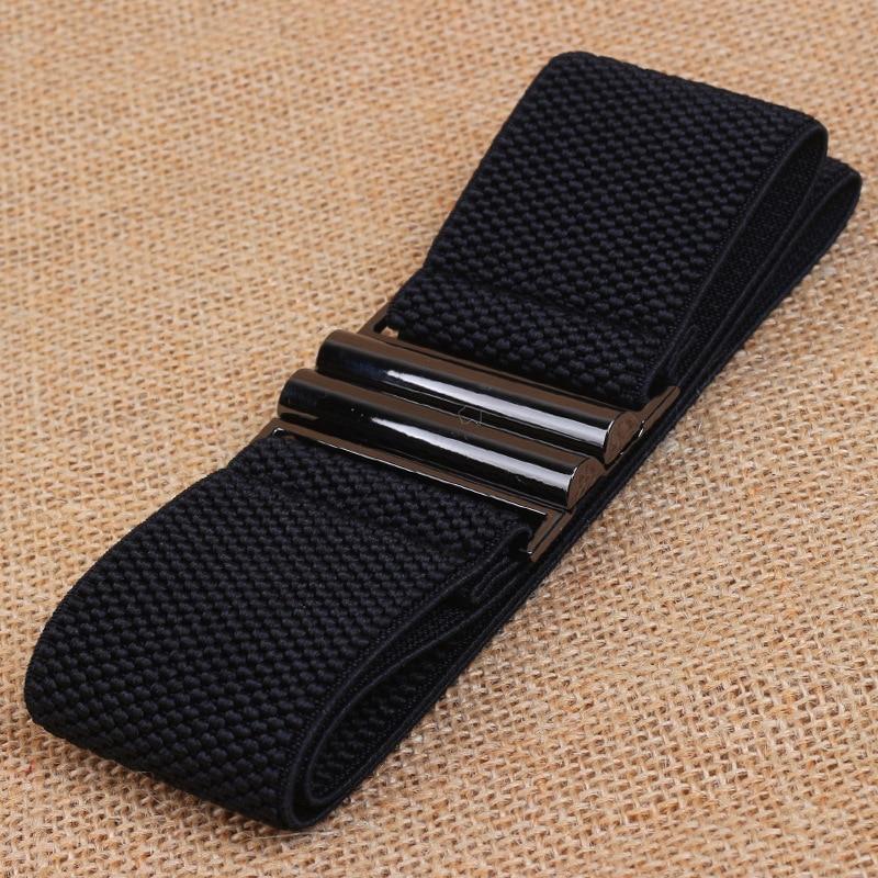 1Pcs Women Elastic Wide Belt for Stretch Thick Waist Dress Fashion women belts plus size Waistband Hot