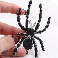Новинка 2019, нашивки с вышивкой на Хэллоуин, аппликация черного паука на одежду, швейные принадлежности