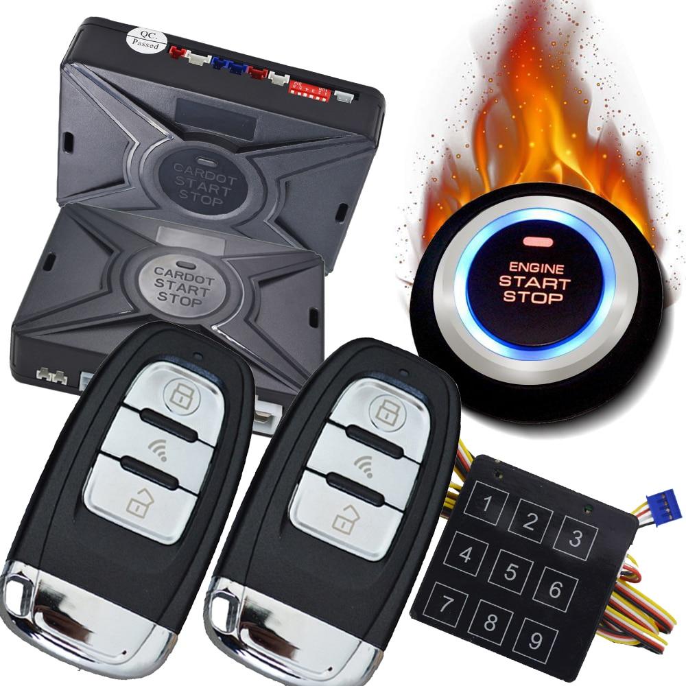 cardot pke passive keyless entry  push button start stop car alarm