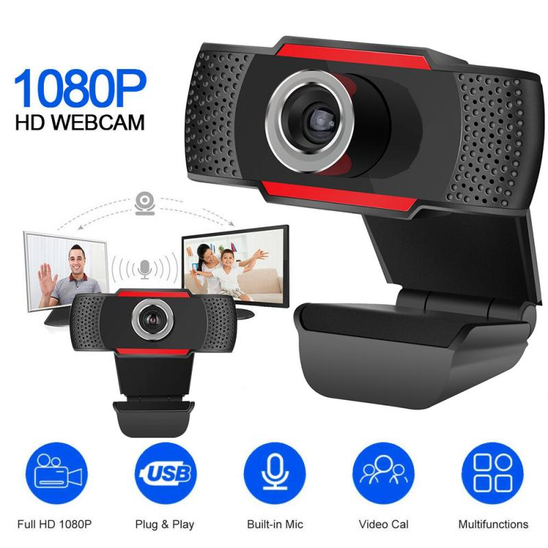 Webcam de ordenador USB Full HD 1080P Webcam cámara Web Digital con micrófono para ordenador portátil de Escritorio PC Tablet Rotatable Cámara