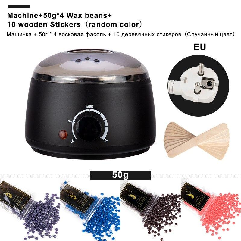 Электрический мини-аппарат для нагрева воска, устройство для удаления волос с деревянными наклейками, набор для нагрева воском