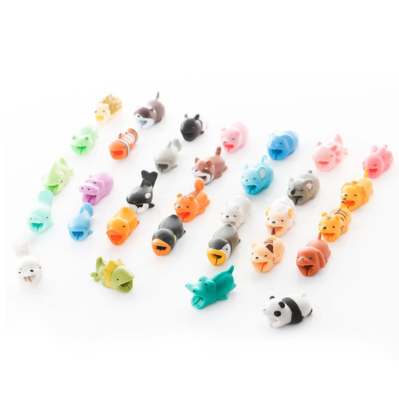 Cute Animal Bite Anti-Break USB Data Cable Protector Cable Winder Saver for iPhone Samsung Charge Ca