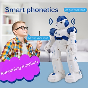 Recording Function Rechargeable Programmable Gesture Sensing Robot With Remote Controller Educational Toy Gift For Children
