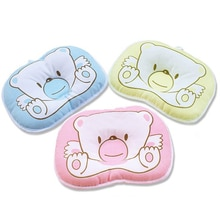 Venta caliente de impresión de cama Infantil oso YYT090 forma oval 100% algodón Bebé Oso almohada de alta calidad