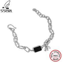 S'STEEL Vintage Sterling Silver 925 Bracelets Gifts For Women Animal Punk Minimalist Chain Bracelet