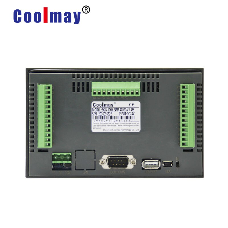 Manufacture 5 inch 800*480 pixels 12do relay outputs rs485 port hmi plc with touch control  - buy with discount