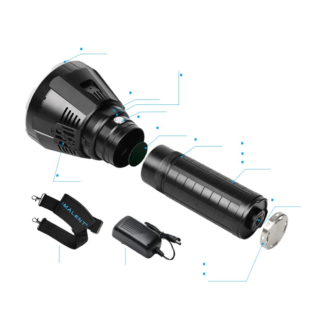 IMALENT MS18 Powerful Flashlight Brightest 100000 Lumens Rechargeable with Cree XHP70.2 Leds Adventure Torch Outdoor enlarge