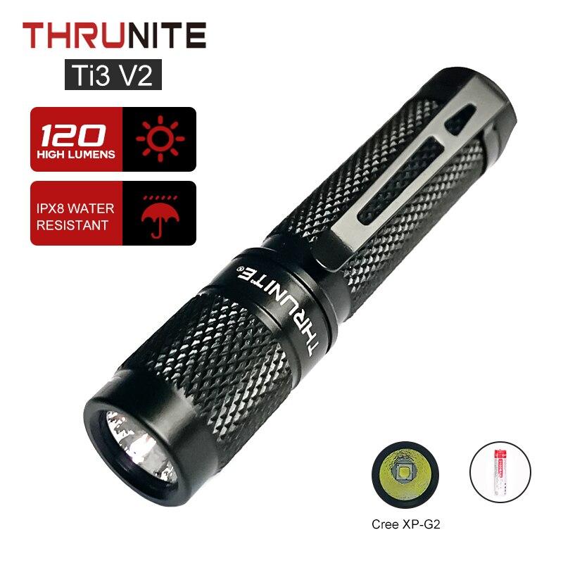 ThruNite Ti3 V2 كيشاين مضيا كري XP-G2 LED مصباح صغير AAA بطارية EDC جيب Penlight كشّاف طوارئ محمول أصلي