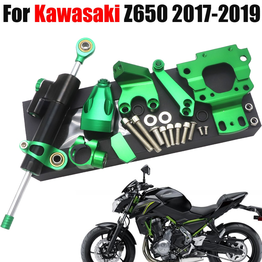 صالح لكاواساكي Z650 Z 650 2017 2018 2019 Motocrycle اكسسوارات الشارع الدراجة القيادة دامبير تصاعد كيت استقرار قابل للتعديل