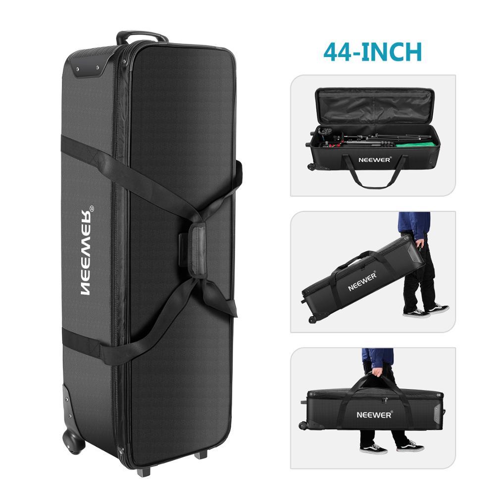 Neewer 44 pulgadas Rolling Camera Case Anti-shock desmontable acolchado compartimiento trípode caso Durable, impermeable para cámara, trípode,