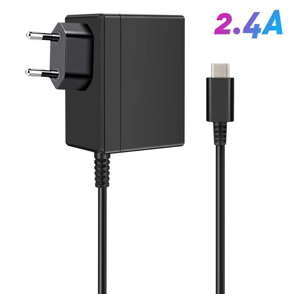 gocomma travel charger kit type c usb adapter EU/US Plug AC Adapter Charger for Nintendo Switch NS 1.5A 2.4A Travel Charger For Nintend Charging USB Type C Power Supply