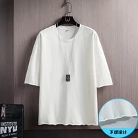 2021 summer short sleeve t shirt male female t shirt loose solid basic t shirt male female casual o collar hipster t shirt top 5