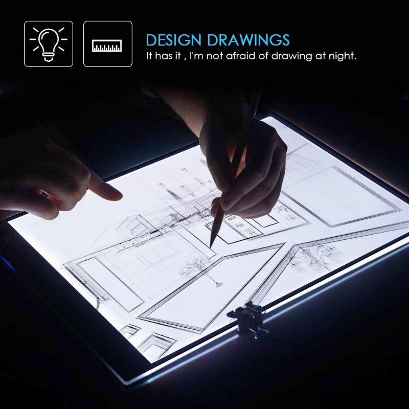 A4 dijital tabletler LED ışık kutusu çizim izleme izleyici kopyalama panosu masa pedi paneli pano sanatçı animasyon elmas boyama