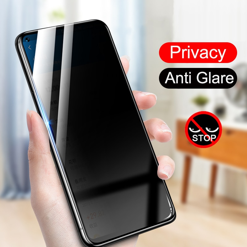Protector de pantalla antiespía 5D vidrio templado de privacidad para HuaWei P10 Plus P20 P30 lite Mate 10 20 20X 30 lite Mate 30