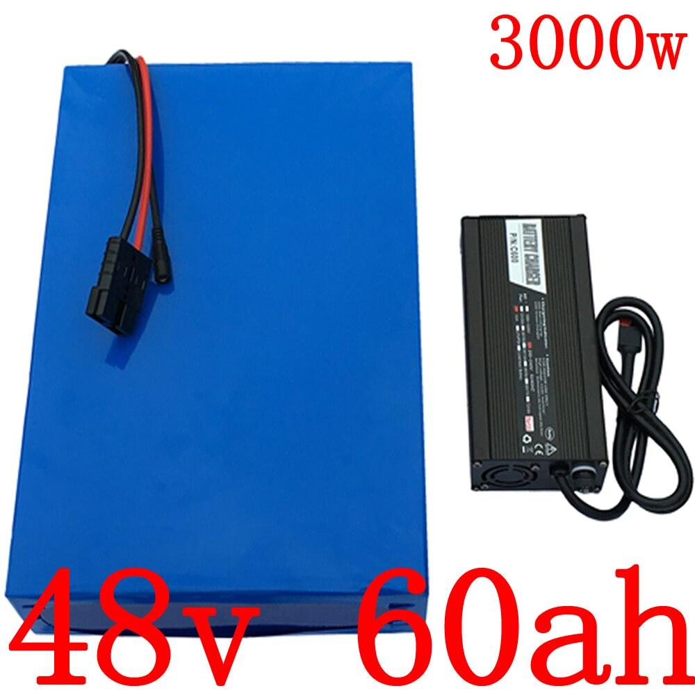 48V 1000W 2000W 3000W batería de litio para scooter 48V 60AH batería eléctrica de la bicicleta 48V 61AH de iones de litio para bicicleta eléctrica de la batería de LG celular