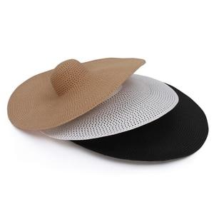 Womens hats with brim Oversized Straw Hat Summer Women Hat Packable Big Wide Brim Sun Beach Hat Summer hats for women beach