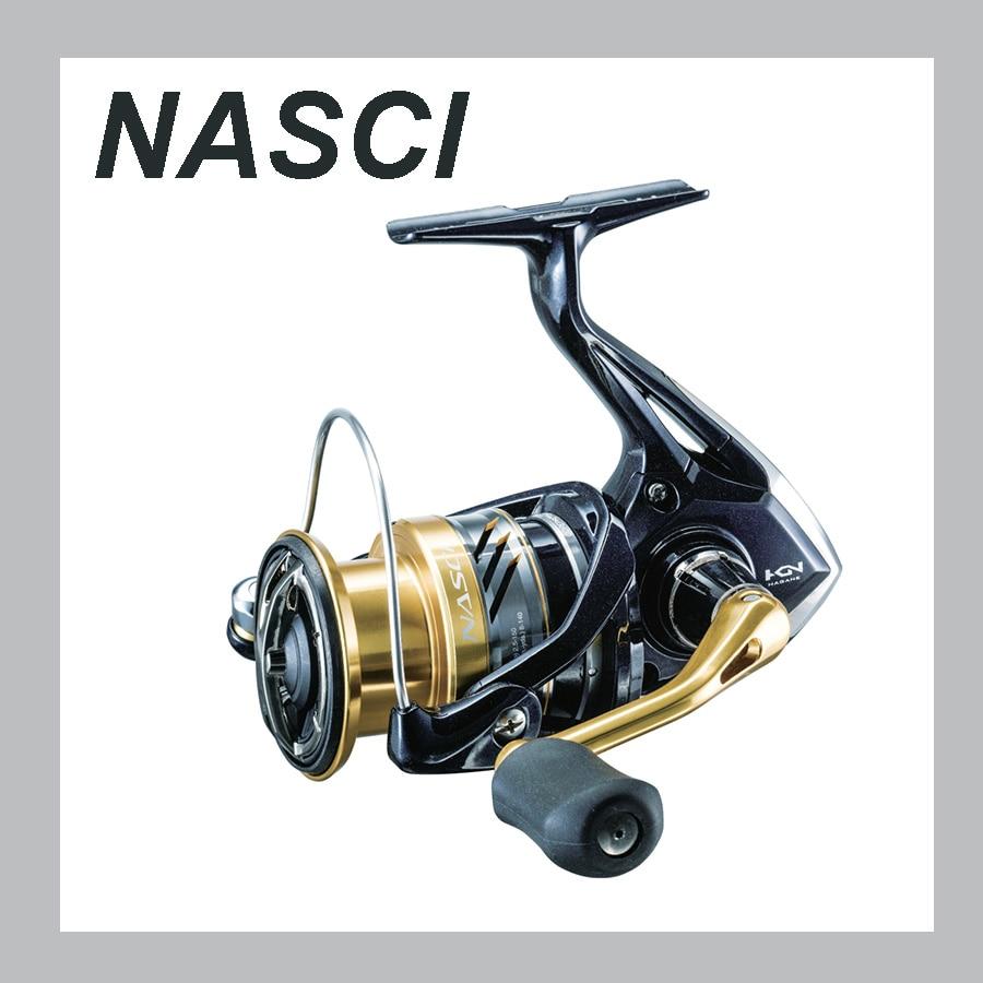Original SHIMANO NASCI Spinning Angelrollen 500 1000 2500 C3000 C3000HG 4000 4000XG C5000XG X-SHIP Salzwasser Angeln Rad
